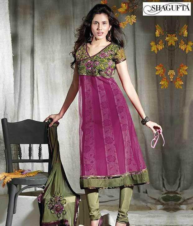 Shagufta Chanderi Banarasi Silk Suit-B-532