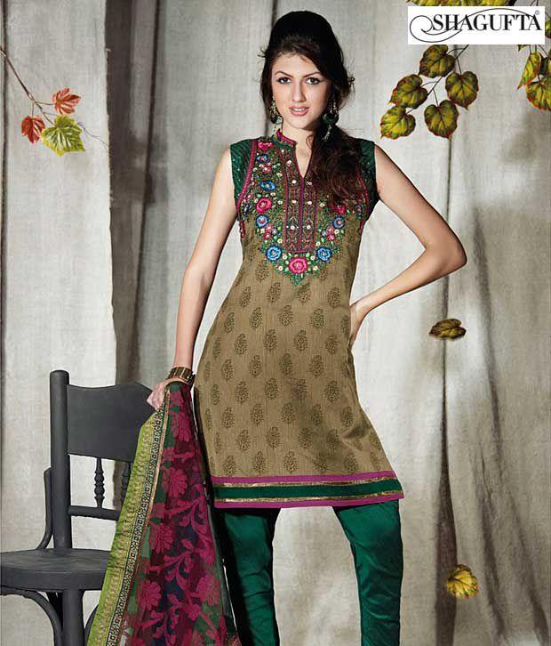 Shagufta Chanderi Banarasi Silk Suit-B-539