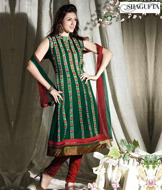 Shagufta Chanderi Banarasi Silk Suit-B-541
