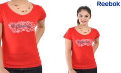 Reebok Women's Red Floral Tee