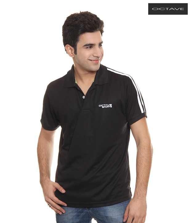Octave Black T-Shirt(S-307-Black)