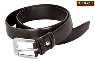 Tie Rack Check Patterned Belt