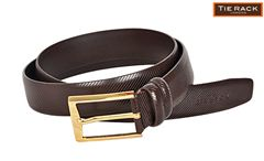 Tie Rack Striped Belt(Brn)