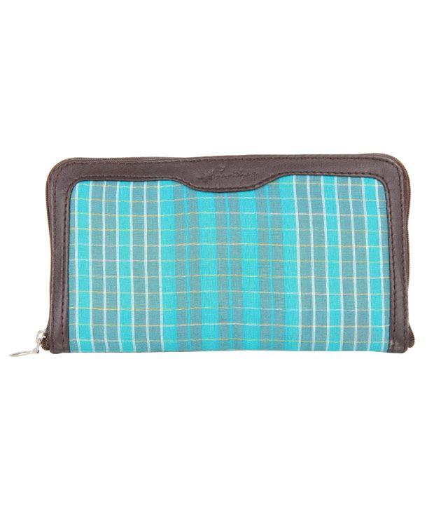 Paridhan Blue Check Wallet