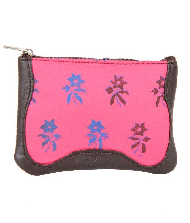 Paridhan Pink Floral Coin Purse