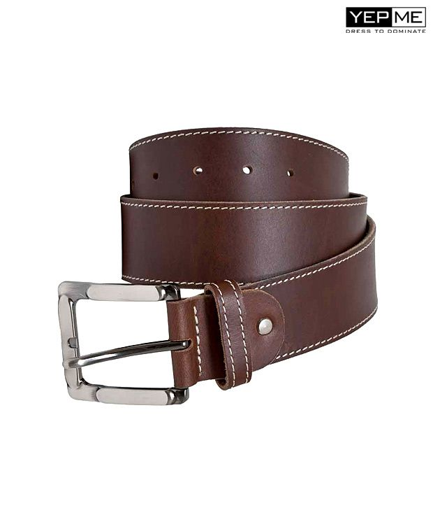 Yepme Casual Brown Leather Belt