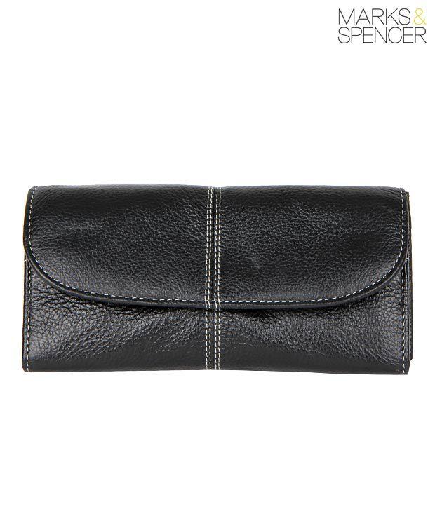 M&S Black Leather Wallet