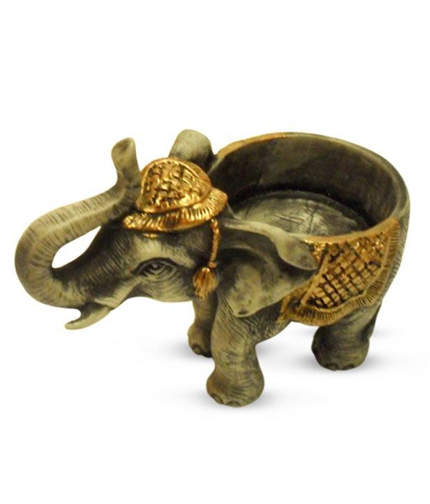 Earth home decor elephant t lite holder buy earth home for Good earth home decor india