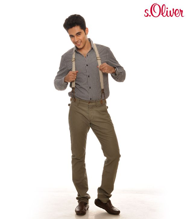 S.Oliver Olive Green Trouser (40.010.73.5587)