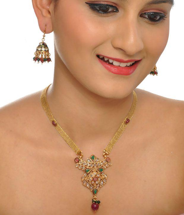 Favola Attractive Kundan & Polki Necklace