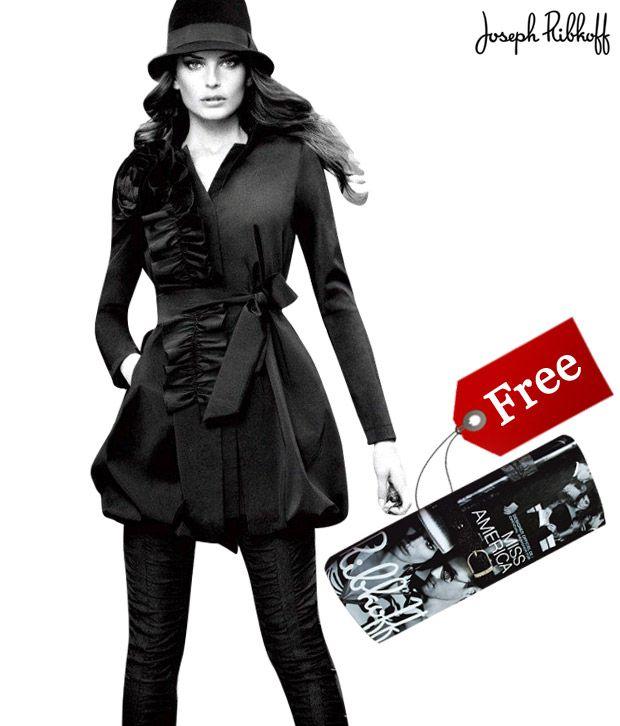 Joseph Ribkoff Black Jacket- 12714 With Free Clutch