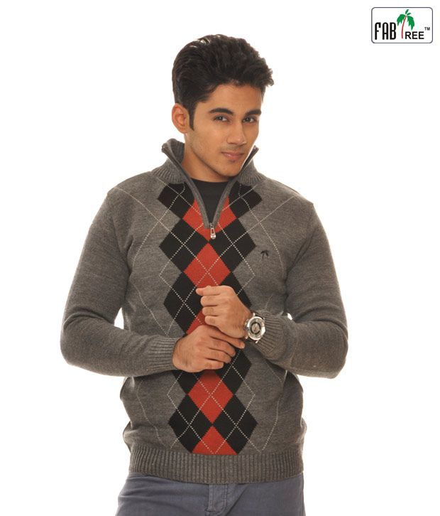 Fabtree Grey Pullover-Sk-124-Gy
