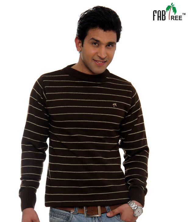Fabtree Coffee Striped Pullover-SK-513-CF