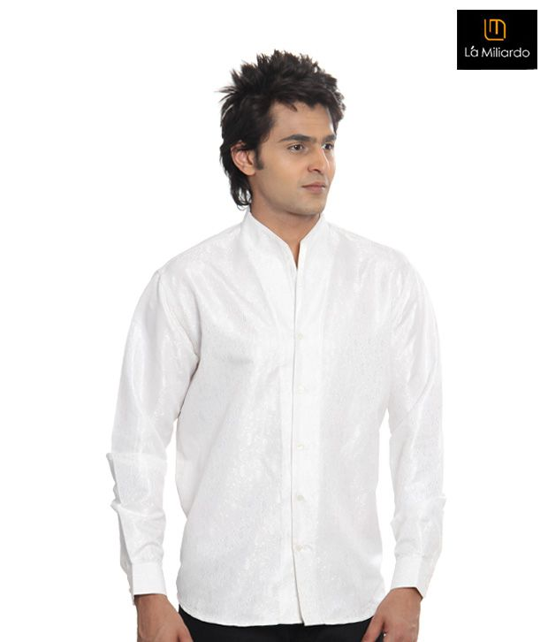 La Miliardo White Shirt-4610/C/01-White