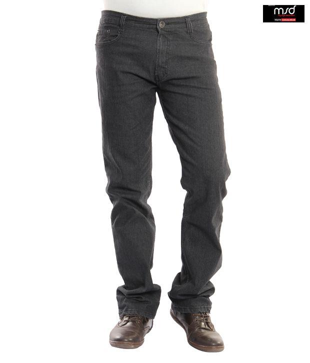 MSD Bare Reguler Fit Charcoal Black Jeans(404)