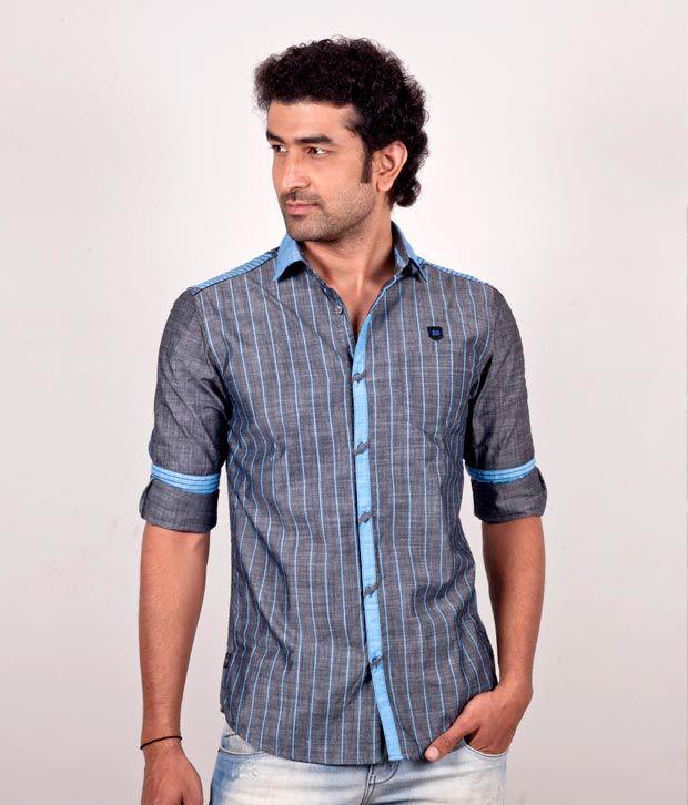 So Design Trendy Shirt (Sdf 317-Bl)