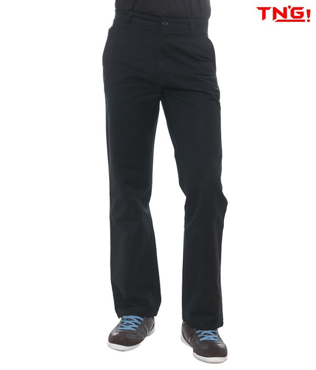 TN'G Black Trousers-TJGN-7774-BK