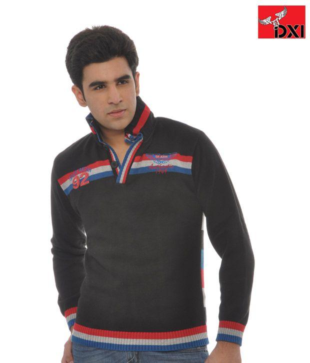DXI Sweatshirt  For Men- X1309 -Black