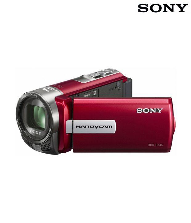 Sony DCR-SX45E Handycam (Red)