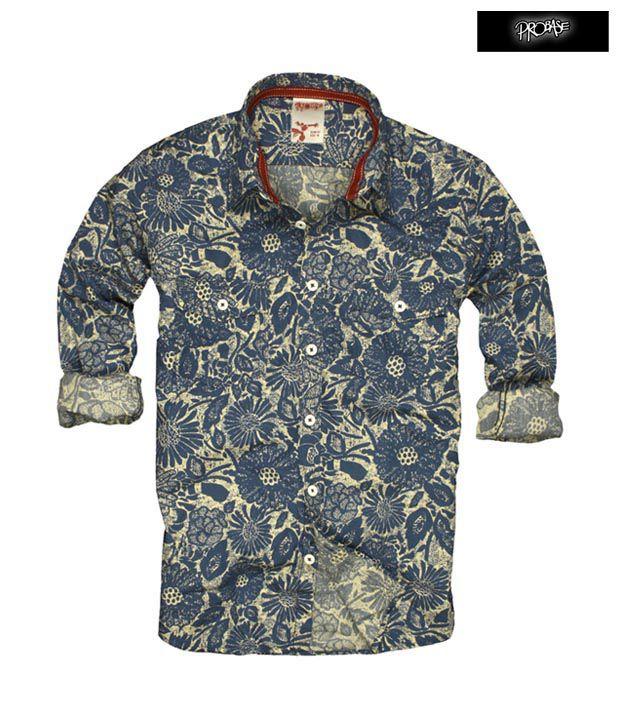 PROBASE Shirt 10PSH22818-BL-LS