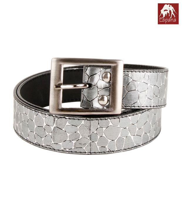 Espana Stylish Grey Sleek Belt