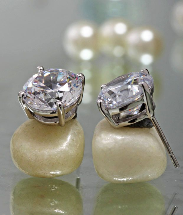 Freak Luminous White Stone Earrings