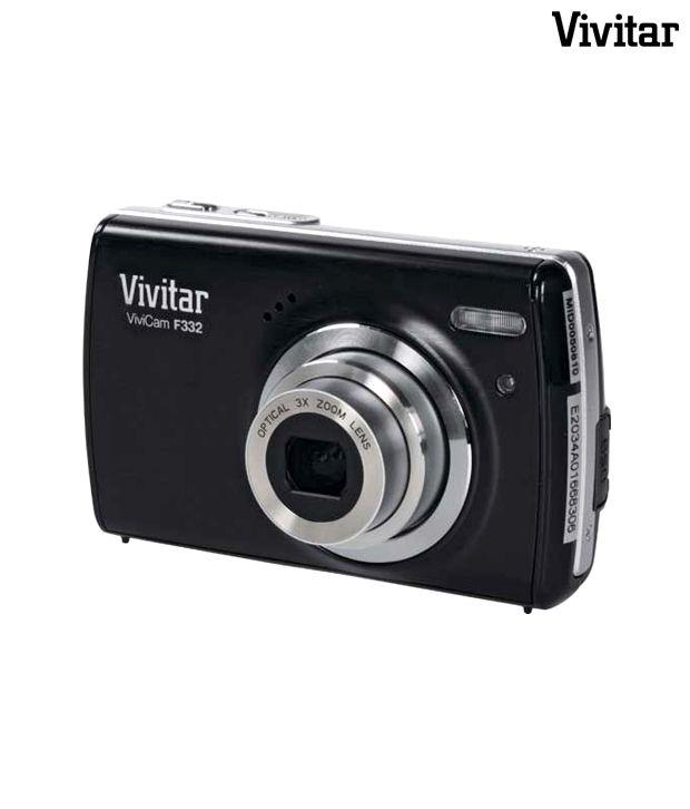 Vivitar F 332 kit Point & Shoot Camera (Black) (with Freebie: 2 GB card plus card reader, tripod stand, camera pouch (worth 999.00), 1 year Vivitar India warranty)