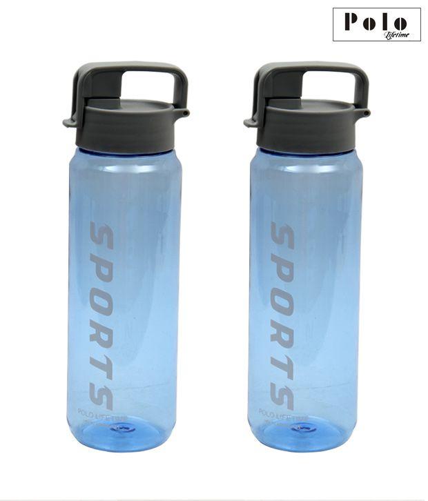 Polo Set of 2 Handy Blue Bottles-900 ml each