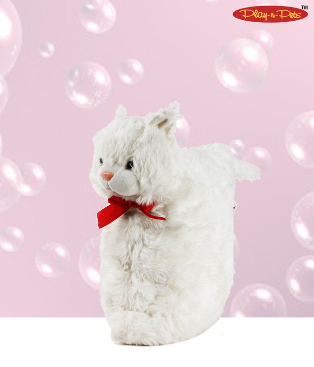 Play-n-Pets White Cat Soft Toy