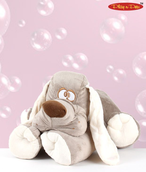 Play-n-Pets Resting Dog Soft Toy