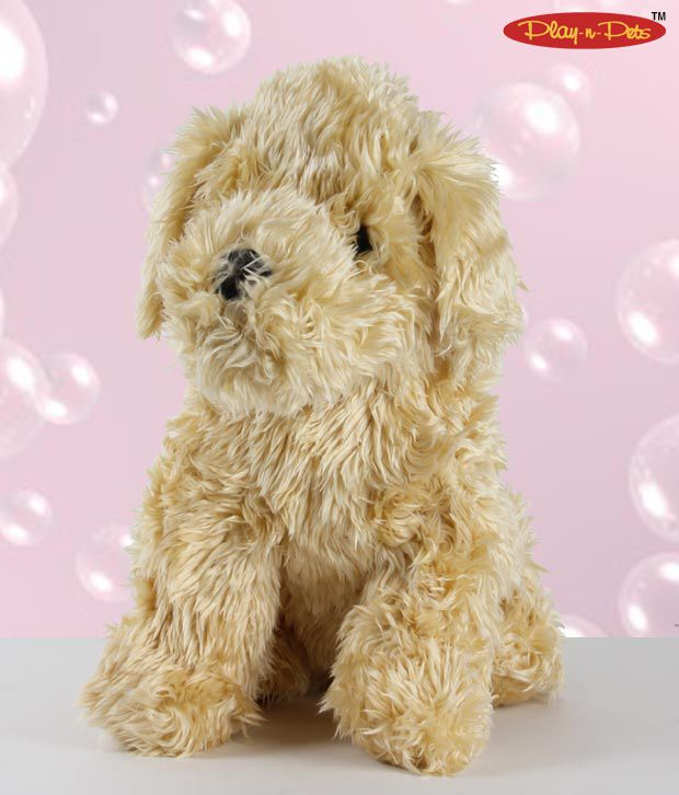 Play-n-Pets Sitting Dog Soft Toy