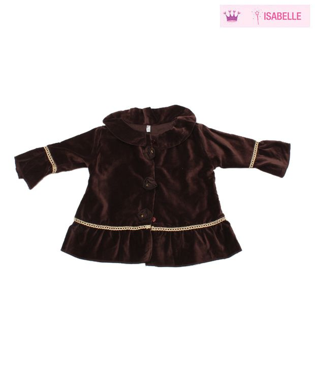 Isabelle Brown Velveteen Tunic Jacket For Kids