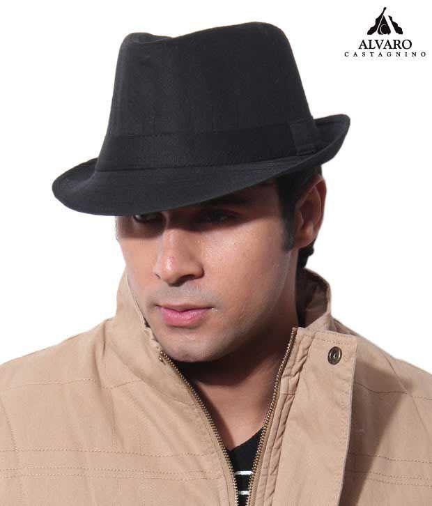 Alvaro Classic Black Stitch Design Hat