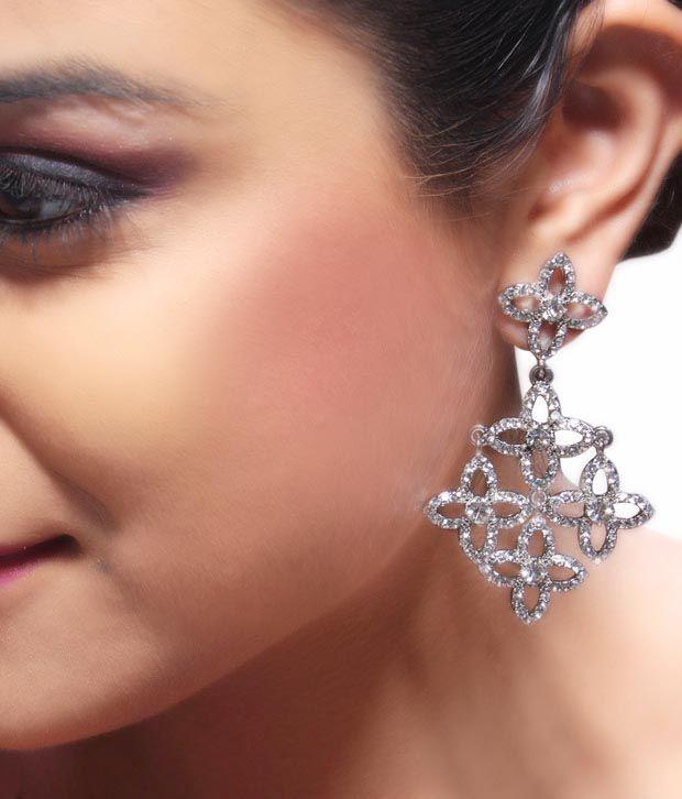 Bansri Red Carpet Chandelier Earrings