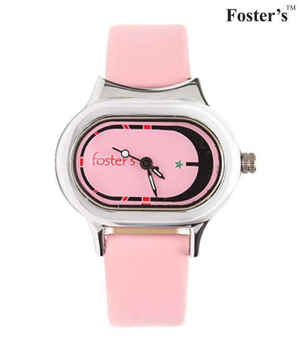 Foster's Designer Light Pink Colour Dial Watch Price in
