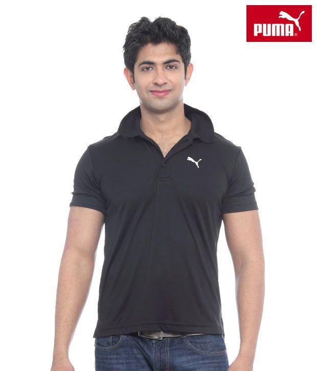 Puma Team Black Essential Polo T-Shirt