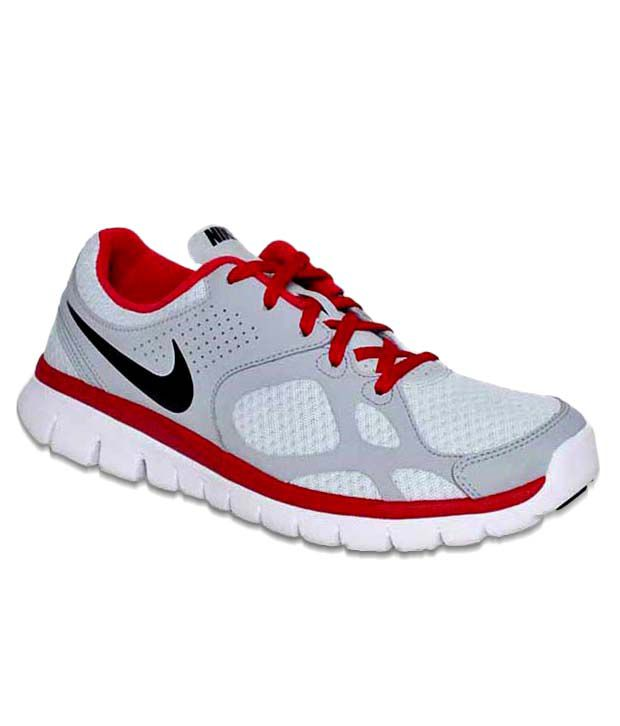 a8698a8cc5f2 Nike Flex 2012 Grey   Red Running Shoes - Buy Nike Flex 2012 Grey   Red  Running Shoes Online at Best Prices in India on Snapdeal