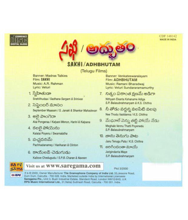 Sakhi / Adhbhutham (Telugu) [Audio CD]: Buy Online at Best Price in