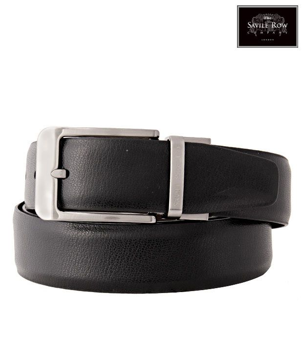 The Savile Row Captivating Black & Brown Reversible Belt