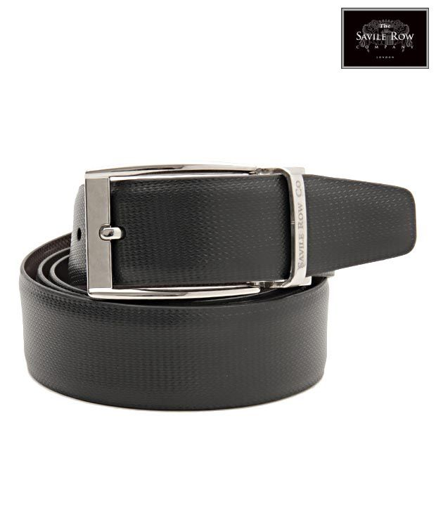 The Savile Row Smart Black & Brown Reversible Belt