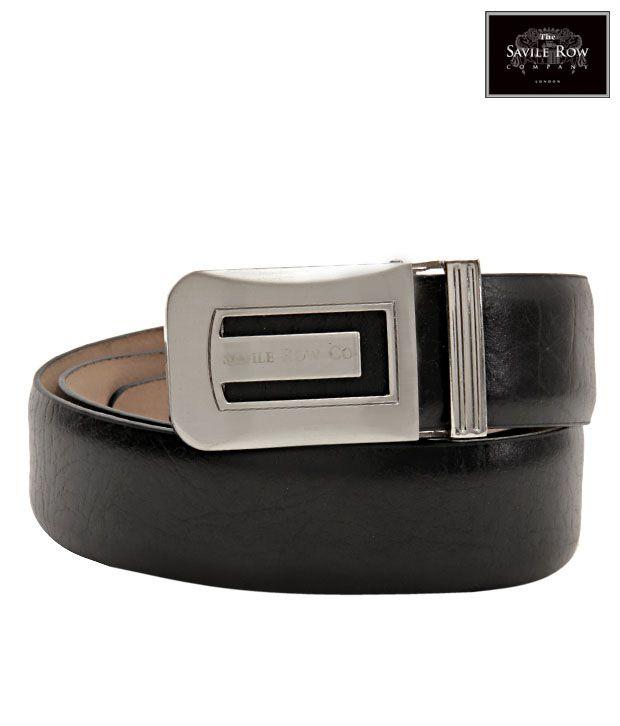The Savile Row Ravishing Black Matte Finish Belt