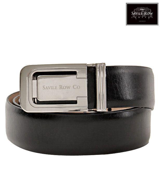 The Savile Row Magnificent Black Matte Finish Belt