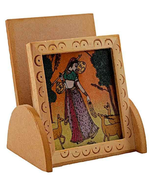 Rajrang Gemstone Painting Mobile Holder