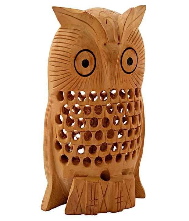 Rajrang Undercut Carved Owl Decorative