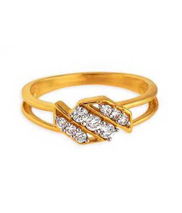 Bling 18kt Gold 0.14 Ct. Diamond Glow Ring