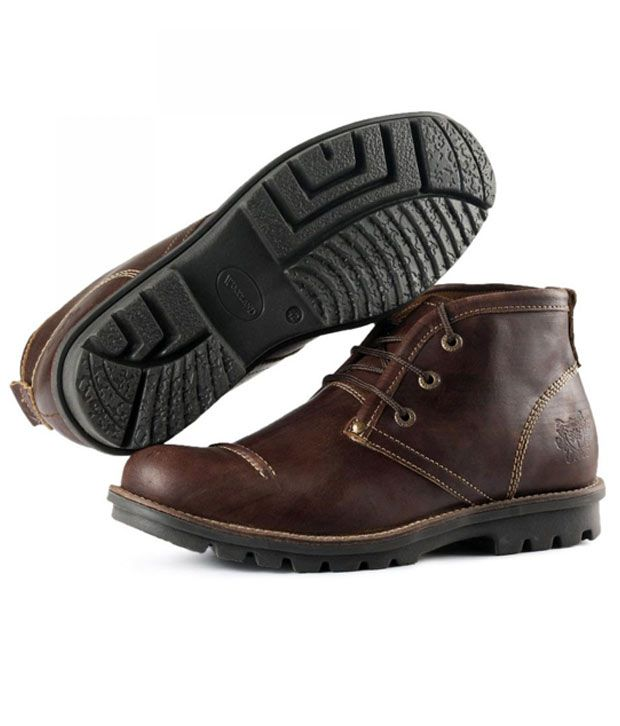 Woodland Leading Brown Ankle Length Boots