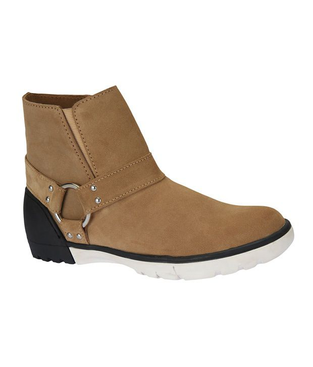 Sharon Men CR0096 Beige Boots Ankle Boots
