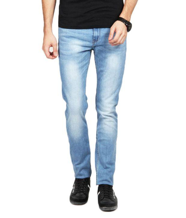 Lee Cooper Originals Trendy Blue Faded Jeans