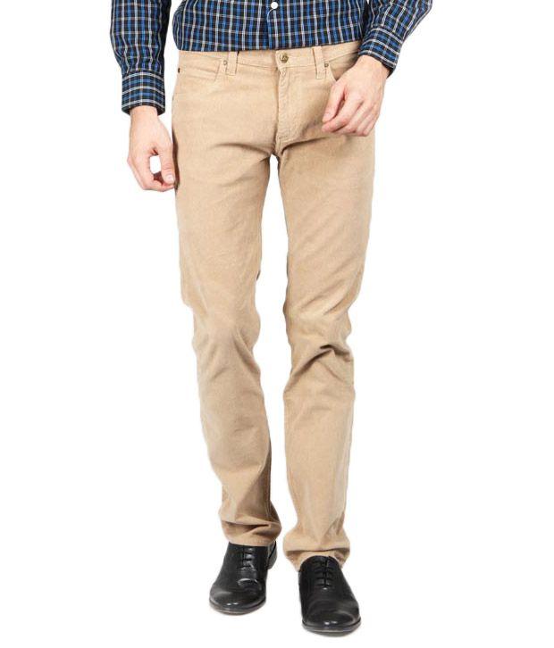 Lee Cooper Originals Stylish Beige Trousers