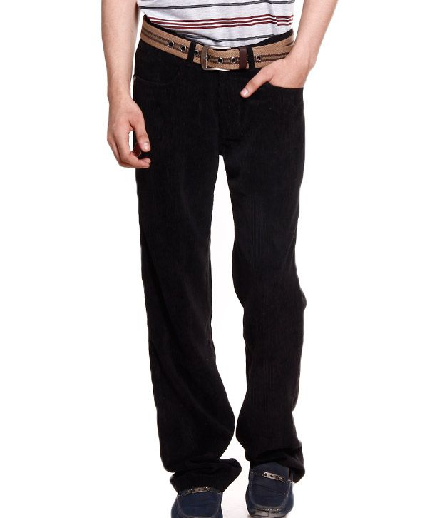 Fever Black Corduroy Pants - Buy Fever Black Corduroy Pants Online ...